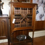 C19th French Walnut Bevelled Glass Single Door Cabinet