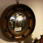 Vic Mahogany Convex Glass Round Mirror