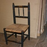 Child's Antique French Chair with Rush Seat