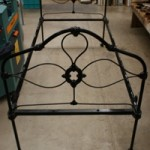Victorian Cast Iron Single Bed with Rails