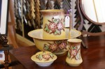 Edwardian Handpainted 4pc Wash Jug and Basin Set