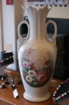 French Hand Painted Vase C19th AF