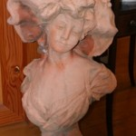 French Maiden Concrete Bust