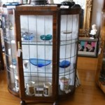 1930's Leadlight Display Cabinet