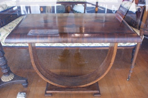 1930s U Shaped Inlaid Art Deco Table