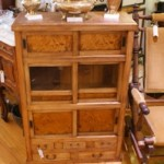 Antique Japanese Burr Elm Tansu