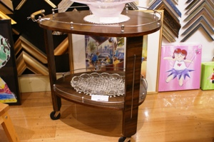 Vintage 1930s Art Deco Drinks Trolley
