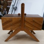 Vintage 5 Tier Cantilever Sewing Box