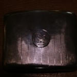 Sterling Silver Cigarette Case C1918 Birmingham 128.5gm