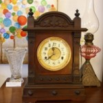 Vintage antique mantel clock manufactured by British United Clock Co, Birmingham  Circa 1890