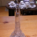 Vintage Tall Sterling Silver & Cut Crystal Scent Bottle - Circa Birmingham 1906