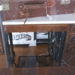 Vintage Singer Sewing Machine Stand with Marble Top