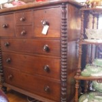 Victorian 7 Drawer Chest with Half Bobbin Turned Columns