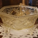 Art Deco Glass Fruit Bowl