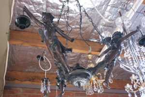 3 Arm Cupid Chandelier