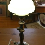 Vintage Art Deco Lady Brass Table Lamp