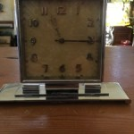 Art Deco Chrome Wind Up Clock