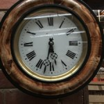 Antique French Round Wall Clock