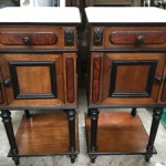 Pair Pair Antique French Bedside Cabinets