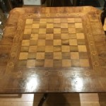 Vintage Victorian Italian Parquetry Chess Table