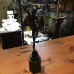 Antique Bronze Figure of Mercury on Marble Base After Giambologna