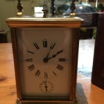 Victorian French Brass Travel Carriage Repeater Alarm Clock