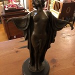 Bronze Art Deco Semi Nude Female
