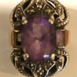 Marcasite Ring with Amethyst